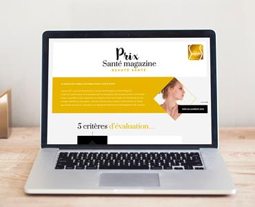 Mini site – Prix Santé Magazine